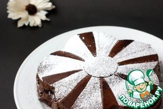 Рецепт: Постный черёмуховый торт-пирог