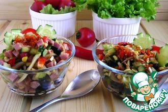 Рецепт: Салат «Фиеста мехикано»