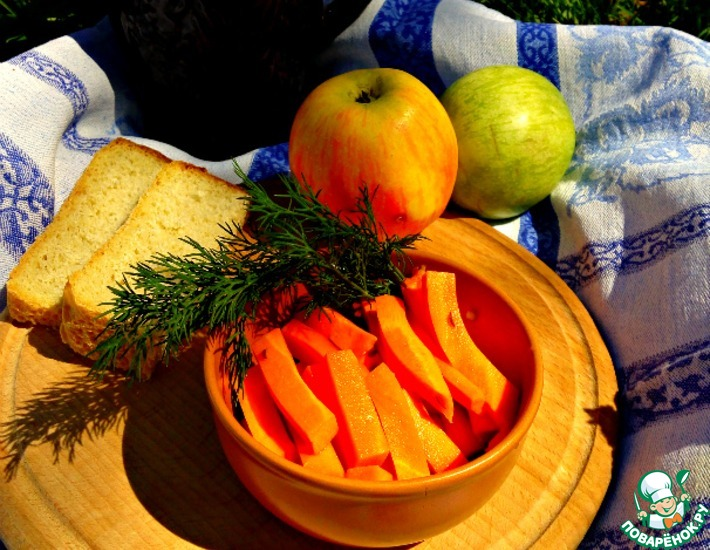 Рецепт: Маринованные морковные палочки