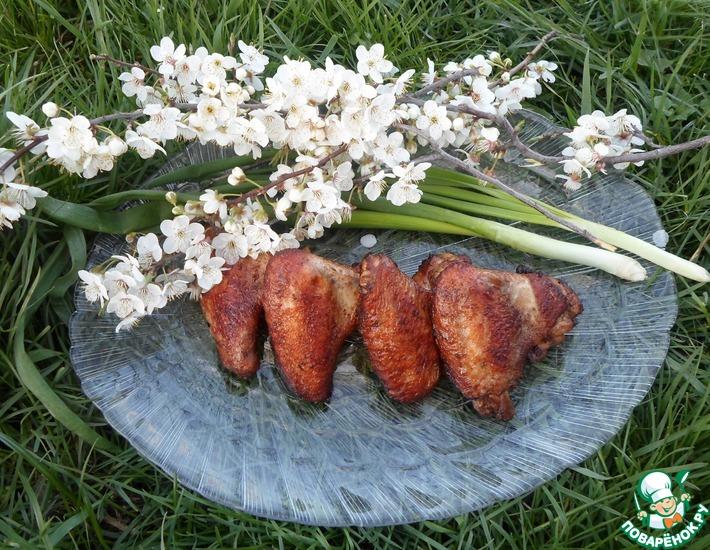 Рецепт: Крылышки куриные Весенние