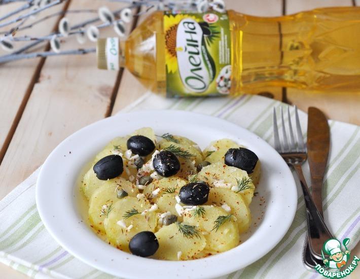 Рецепт: Пряный картофель с маслинами и каперсами