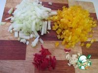 Запеченные баклажаны с рагу и соусом ингредиенты