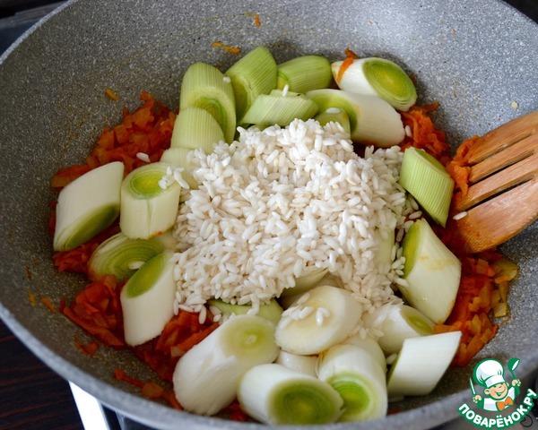 лук-порей рис сладкий перец