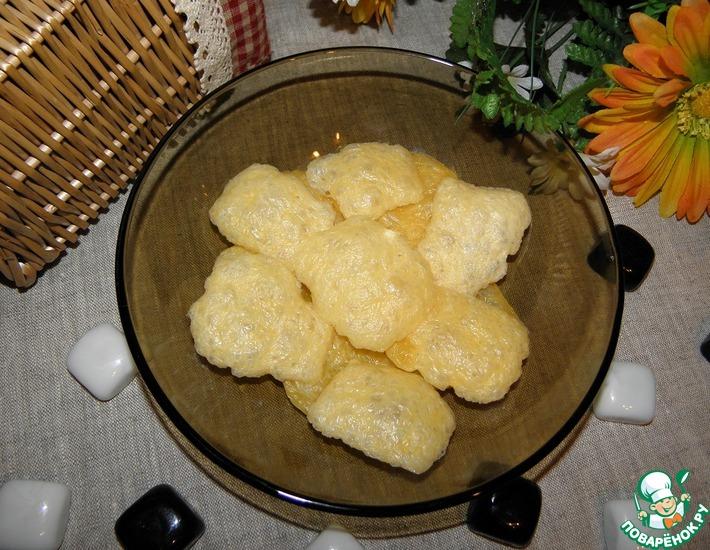 Рецепт: Чипсы из сыра Одно мгновение