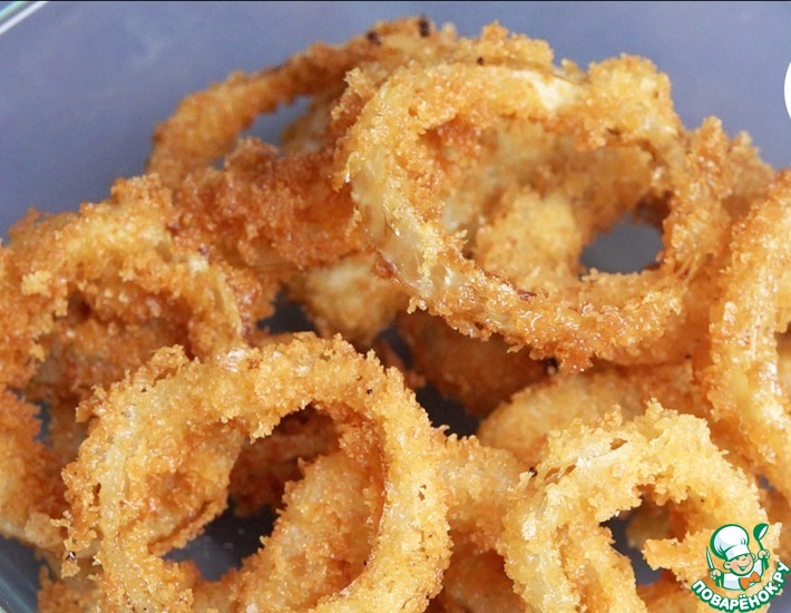 Рецепт: Супер хрустящие луковые кольца