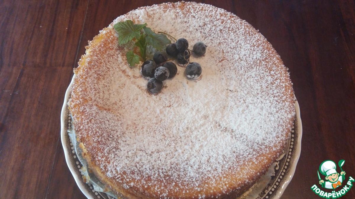 Торт с запеченным сметанным суфле