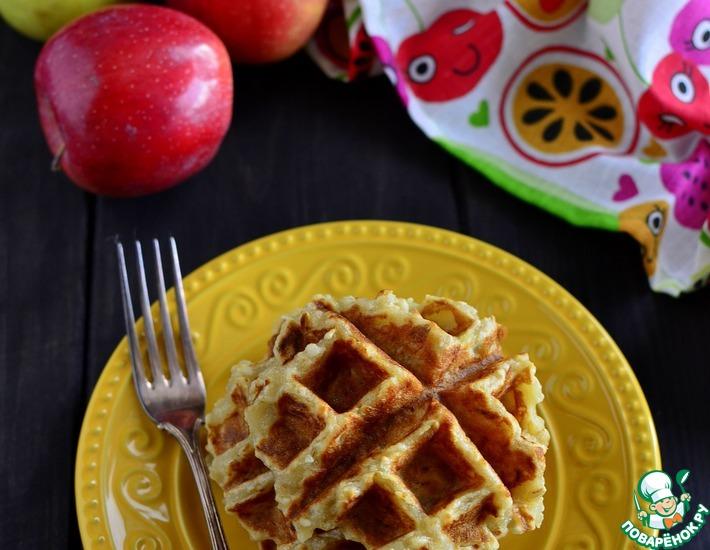 Рецепт: Яблочные вафли
