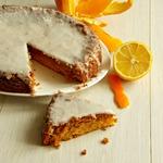 Апельсиновый бисквит с лимонной глазурью