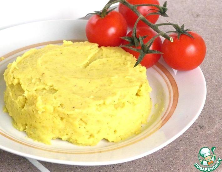 Рецепт: Картофельное пюре с яблоками и карри