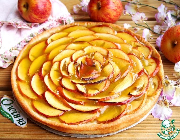Яблочно-мармеладный пирог – кулинарный рецепт