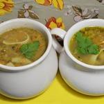 Густой суп с машем и лапшой