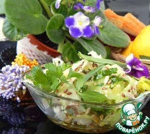 Заправить салат заправкой, настоять пять минут и подавать! С весной вас! Будьте красивы!