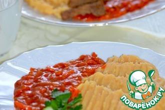 Рецепт: Гороховое пюре с томатным соусом