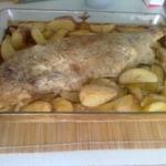 Запеченный чир с картофелем