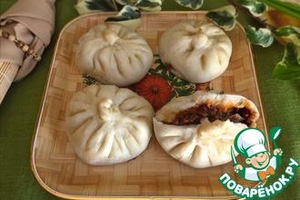 Рецепт: Китайские паровые пирожки с пряной свининой