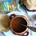 Фасолевый суп в горшке