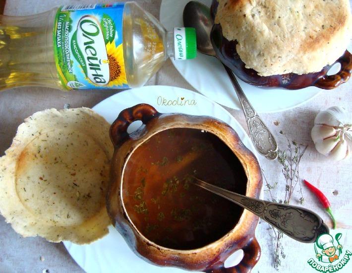 Рецепт: Фасолевый суп в горшке