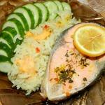 Классический стейк лосося в пароварке
