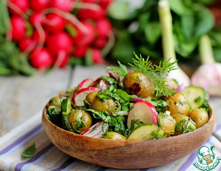 Рецепт: Постный теплый овощной салат