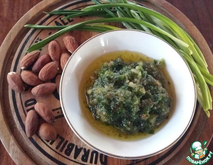 Рецепт: Ореховый соус с черемшой