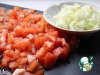 Постные оладьи с помидором и луком ингредиенты
