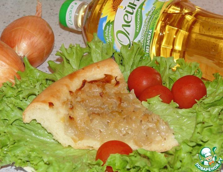 Постный пирог с луком таджикский