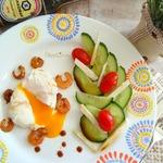 Яйцо-пашот с креветками