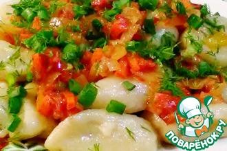 Рецепт: Картофельные кнедлики постные с овощами