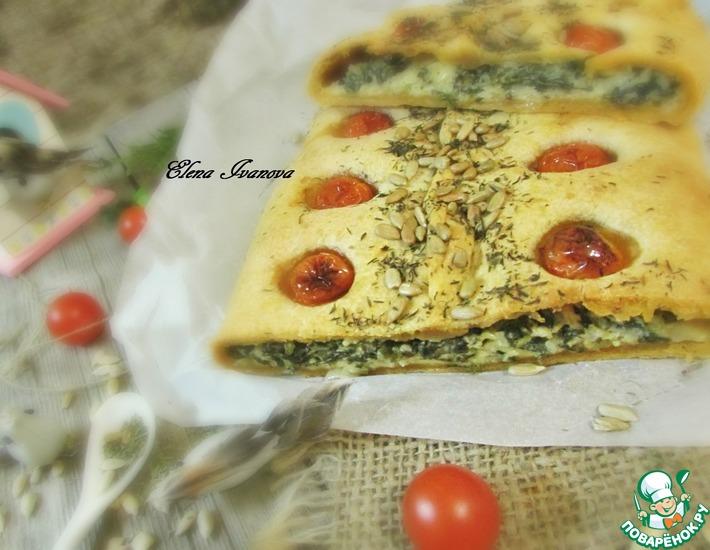 Рецепт: Красный пирог со шпинатом