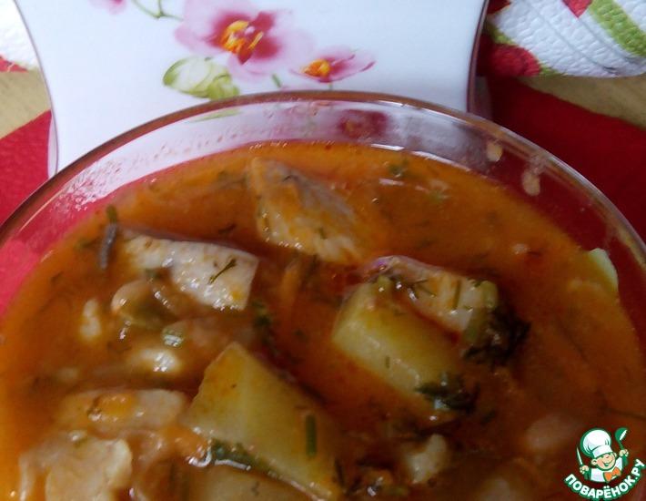 картофель с фасолью и грибами