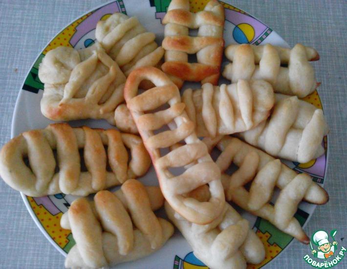 Рецепт: Постное печенье Лесенки