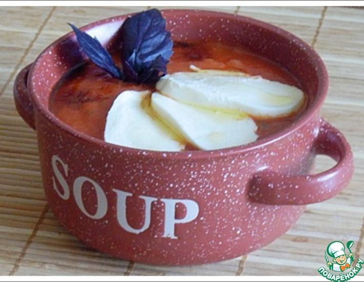 Рецепт: Томатный суп-пюре с моцареллой