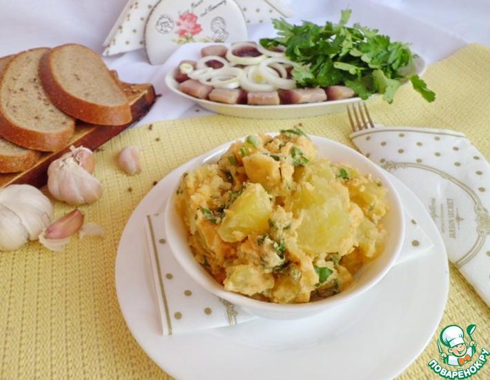 Рецепт: Картофель со сметаной и зеленью