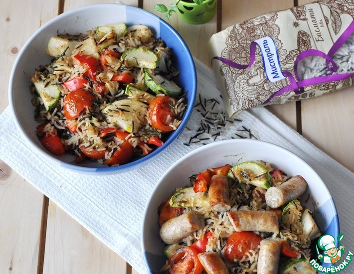 Гарнир из рисового микса с овощами – кулинарный рецепт