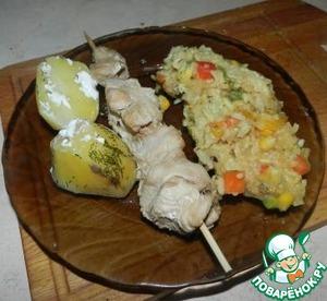 Шашлычки из куриного филе в соусе