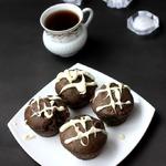 Постные черёмуховые кексы на рассоле