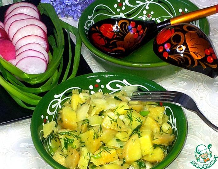 Рецепт: Постный картофель по-деревенски