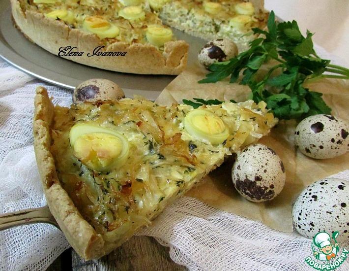 Рецепт: Цельнозерновой киш с капустой и яйцом