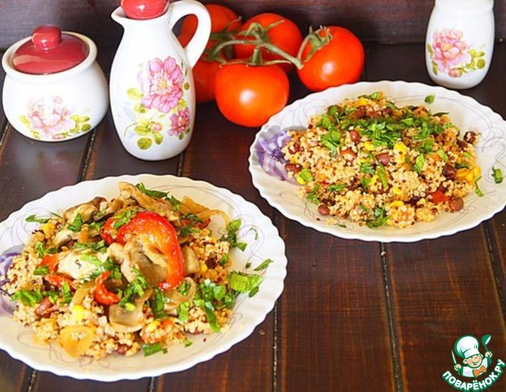 Рецепт: Овощное рагу с киноа по-мексикански