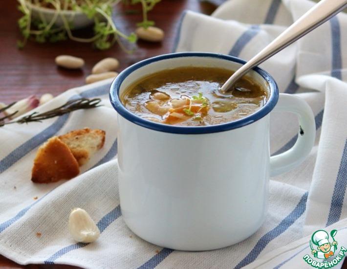 Рецепт: Домашний суп с белой фасолью