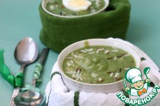 Рецепт: Крем-суп со шпинатом и рисом
