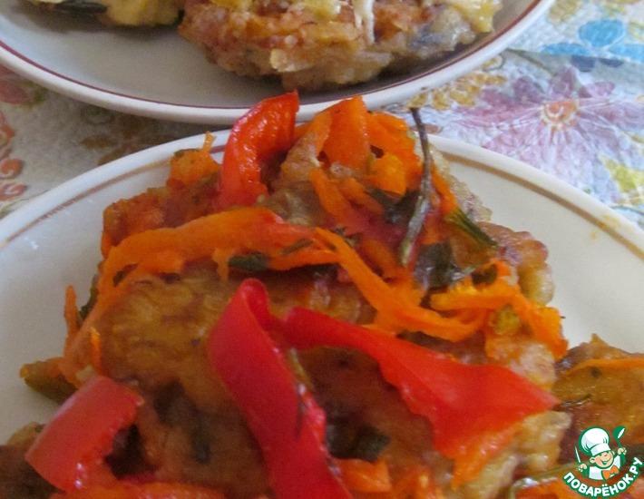 Рецепт: Овощные тефтели с баклажанами