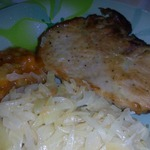 Свиная отбивная в горчичном маринаде