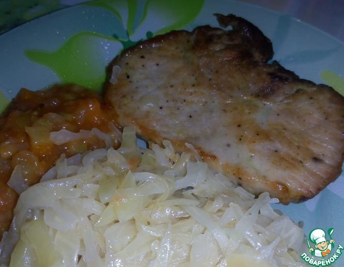 Рецепт: Свиная отбивная в горчичном маринаде