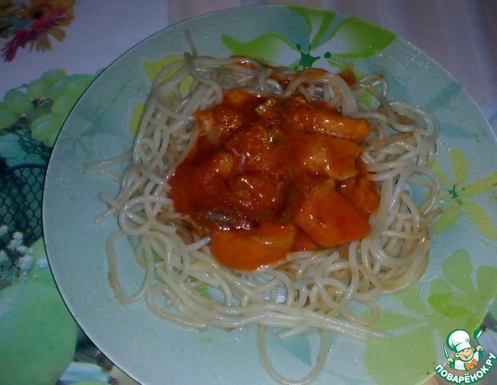 Рецепт: Свиной гуляш в томатном соусе