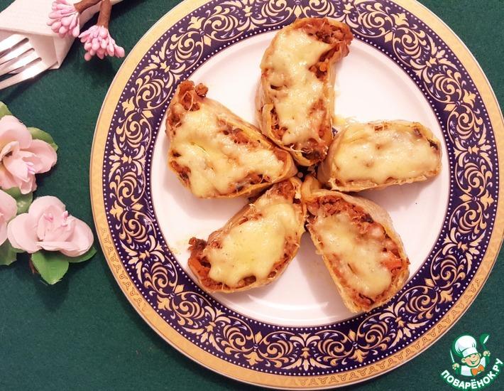 Рецепт: Мясной рулет под сыром