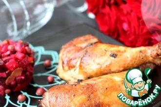 Рецепт: Куриные окорочка, маринованные с тархуном