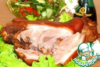 Рецепт: Свиная рулька Медово-горчичная
