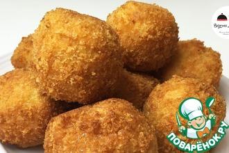 Рецепт: Картофельные шарики с ветчиной и сыром