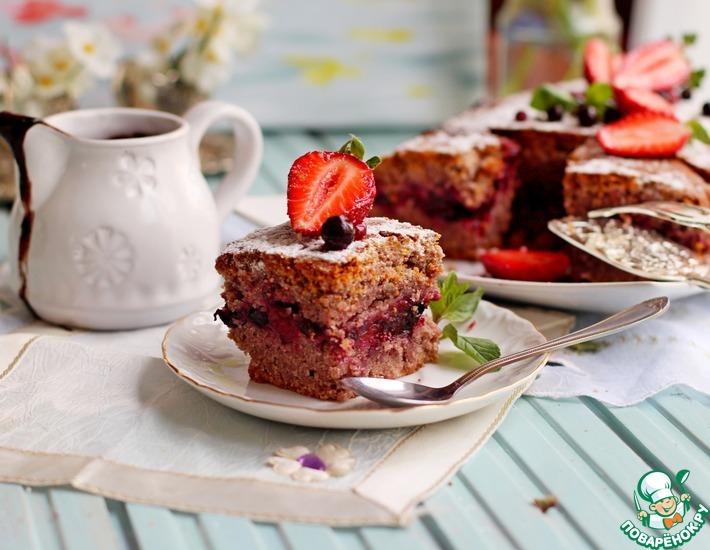 Рецепт: Постный пирог на ягодном соке